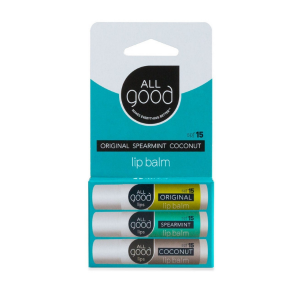 Assorted SPF15 Lip Balm 3 Pack from All Good