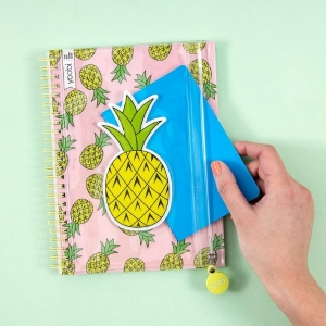 Pineapple Spiral Notebook from Yoobi