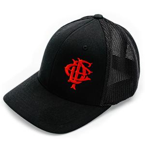 Black Trucker Hat from Fire Dept. Coffee