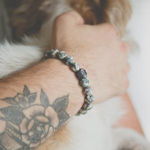 Green Camo Bead Bracelet from iheartdogs