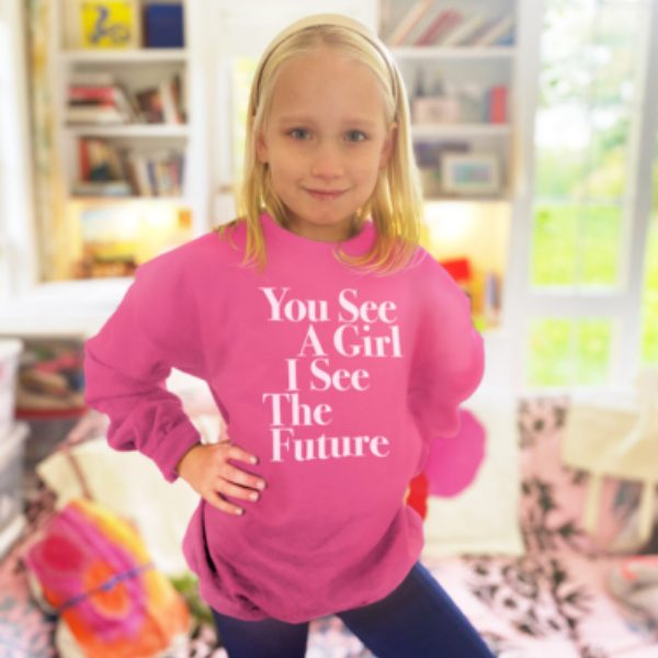 You See A Girl Youth Sweatshirt from Prinkshop