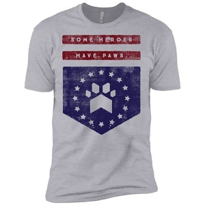 Heroes Have Paws Tee from iheartdogs