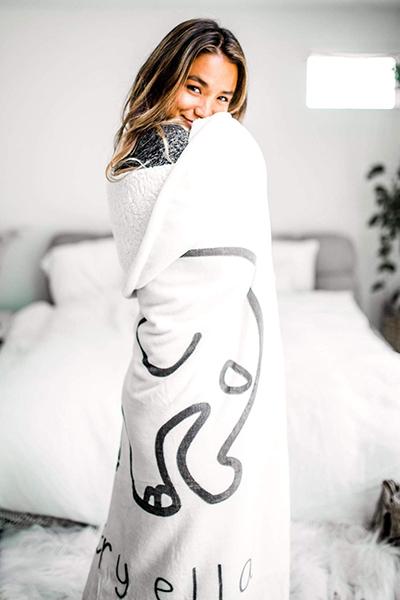 Ivory Sherpa Blanket from Ivory Ella