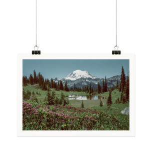 Kevin Russ for Parks Project_ Mount Rainer Poster from Parks Project