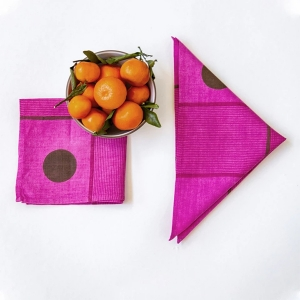 Azelea Plaid Napkin from Block Shop