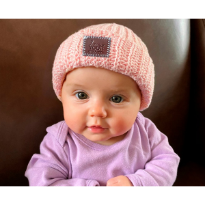 Blush Baby Cuffed Beanie from Love Your Melon