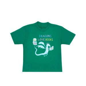 Dragons Love Books Kids Tee from Out of Print