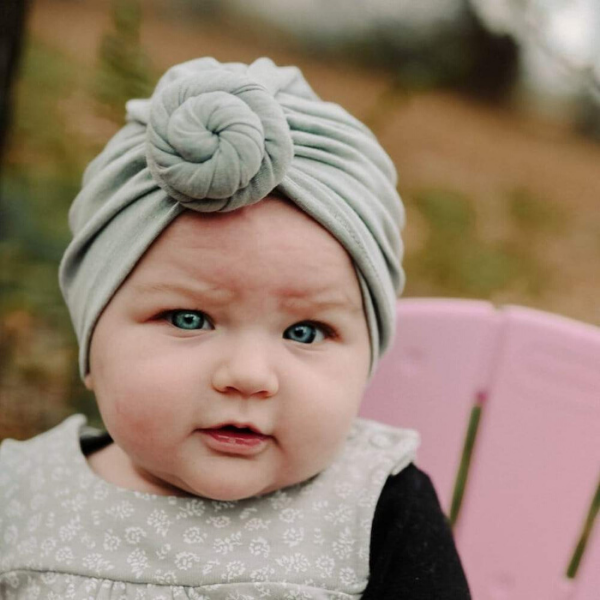 Grey Baby Turban from Headbands of Hope