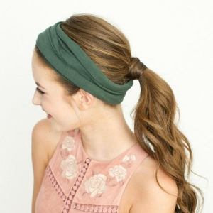 Solid Tube Turban from Headbands of Hope