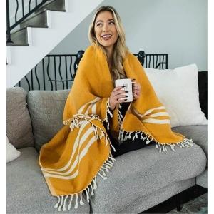 Triple Stripe Dobby XL Blanket from San Cloud