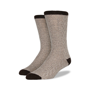 Men's Wool Blend Cable Knit Socks from Mitscoots Outfitters