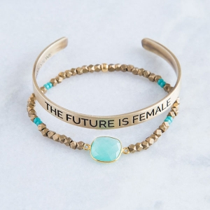 Future is Female Bracelet Set from Bird + Stone