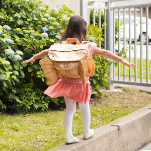 Sparkalicious Gold Butterflyer Backpack from Bixbee