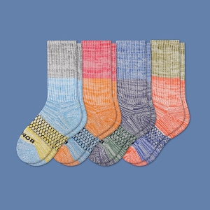 Youth Tri-Block Calf Sock 4-Pack from Bombas
