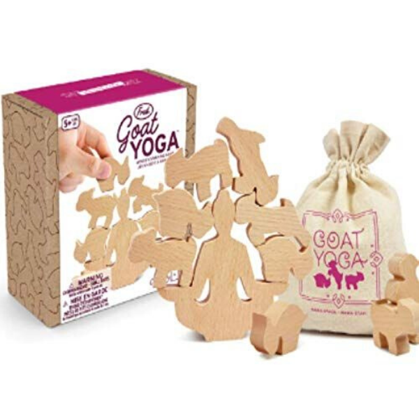Goat Yoga Wooden Stacking Game from BoxLunch