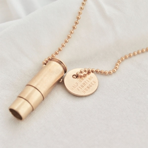 Fighting Hunger Bullet Necklace from HALF UNITED