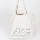 Reversible Canvas and Burlap Tote from Link of Hearts