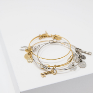 Wishful Charm Bangle Bracelet from Link of Hearts