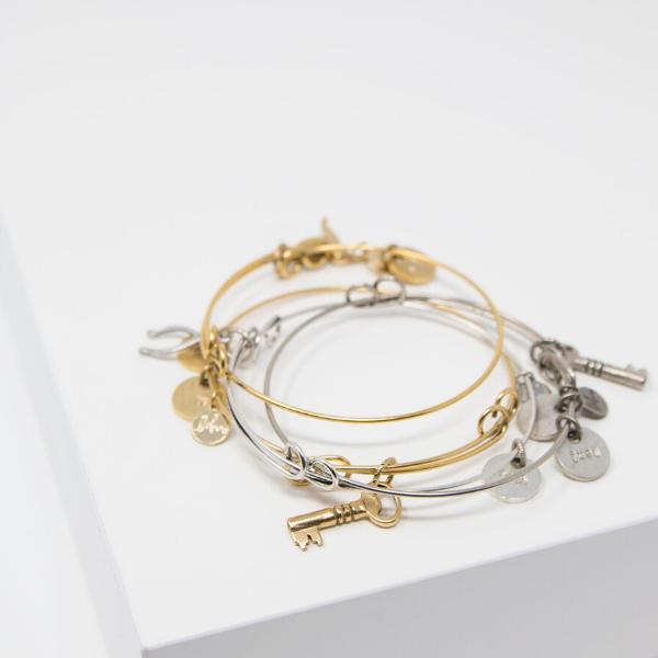 Wishful Charm Bangle Bracelet from Link of Hearts