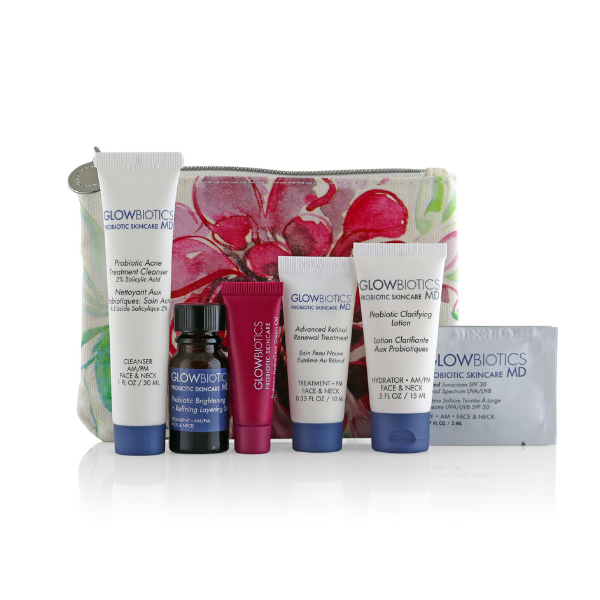 Probiotic Deluxe Trial Kit for Combination to Oily Skin from GLOWBIOTICS