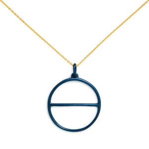 Salt Symbol Necklace in Blue from Delicacies