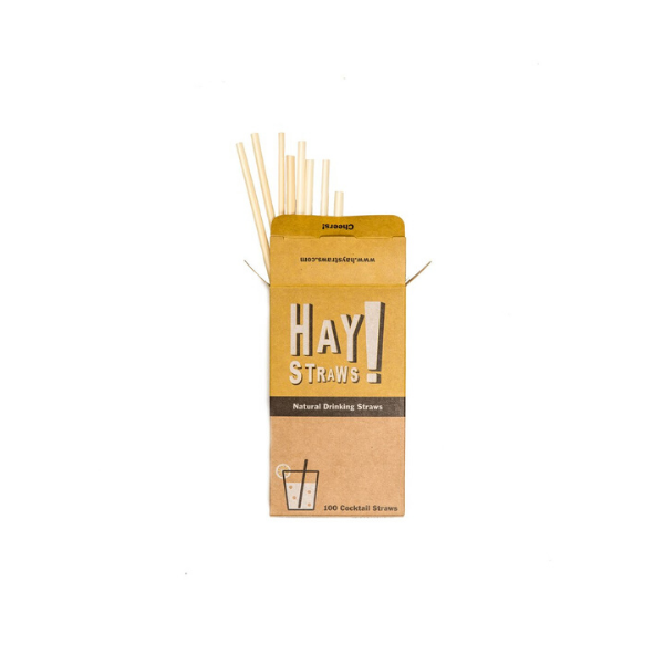 Biodegradable Hay Straws from Wisdom Supply Co.