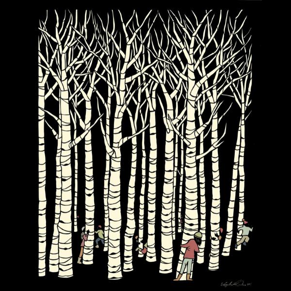Tree Tag Paper Cut Poster from Elizabeth Van Duine