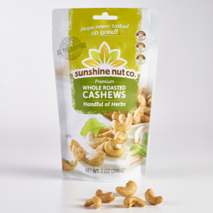 Handful of Herbs Roasted Cashews from Sunshine Nut Co