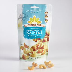 Perfectly Plain Roasted Cashews from Sunshine Nut Co