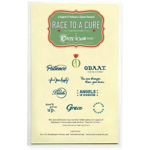 Race To a Cure Temporary Tattoo Pack From Conscious Ink