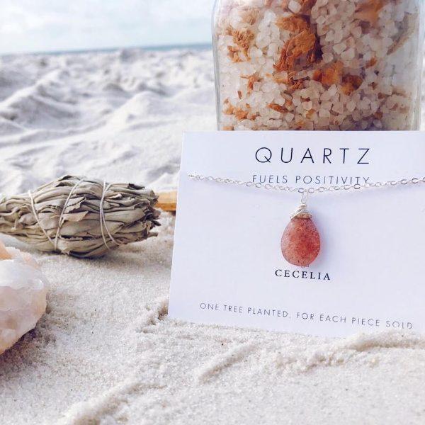 Quartz Wire Wrapped Necklace from Cecelia