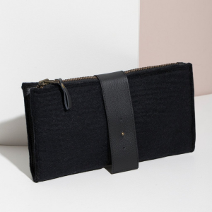 Felt + Leather Clutch