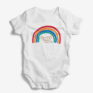 Rainbow Shaka Baby Onesie