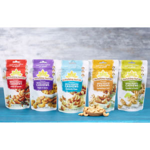 Sampler Cashew Variety 5 pack from Sunshine Nuts