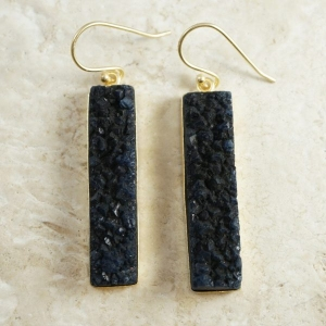 Azure Slab Earrings from The Skipping Stone