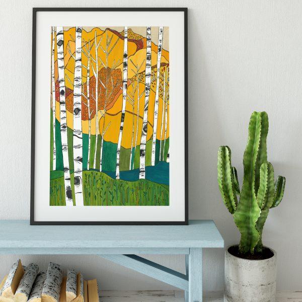 Katherine Homes Art Print-Colorado Aspens from Katherine Homes