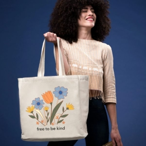 Free to Be Kind Tote from The Tote Project