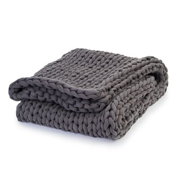 Cotton Napper Weighted Blanket from Bearaby